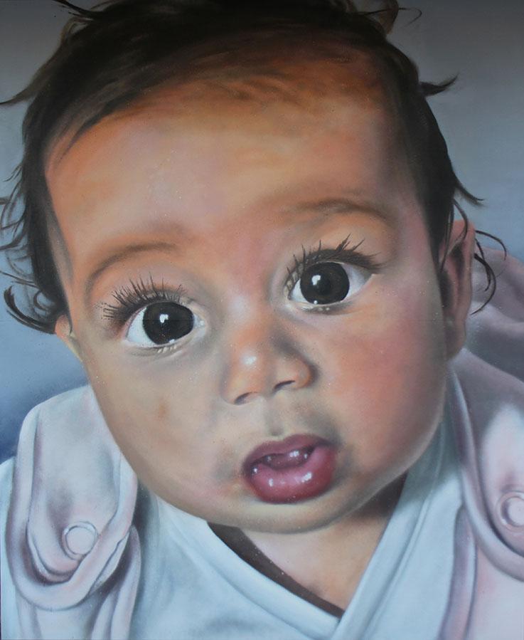 SoenBravo | Retrato Tiana verdadero amor 2016 | Pintor de murales especializado en trabajos artísticos de pintura, graffiti y decoración en Madrid