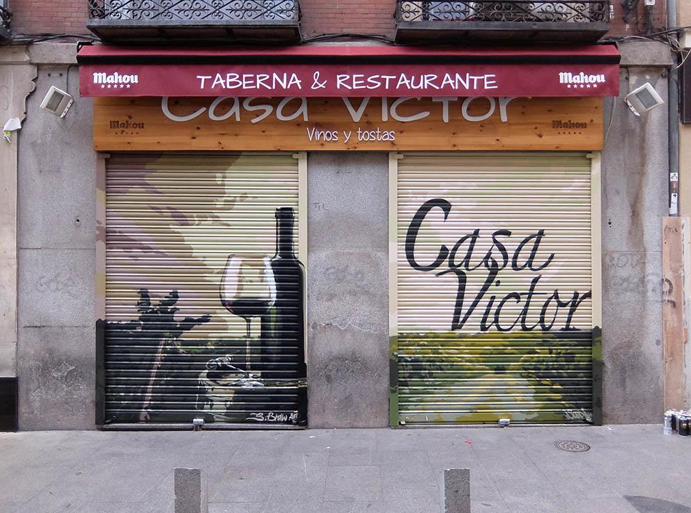SoenBravo | Casa Victor | Pintor de murales especializado en trabajos artísticos de pintura, graffiti y decoración en Madrid