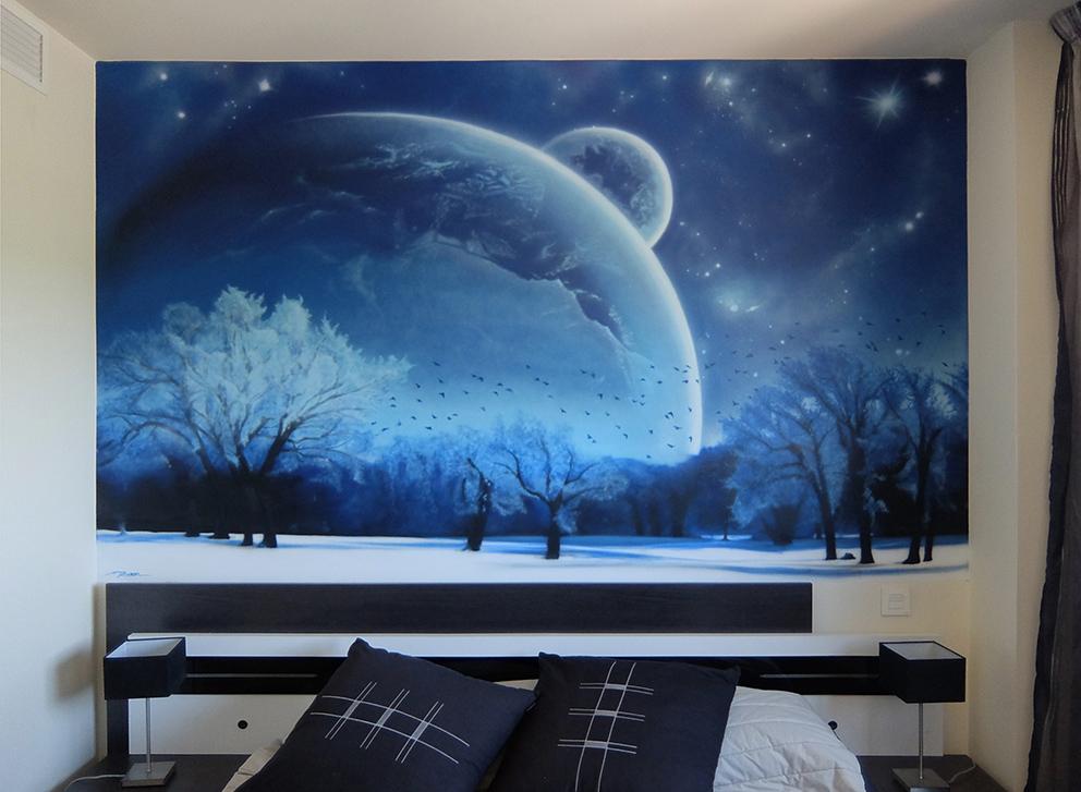SoenBravo | Espacio Invernal | Pintor de murales especializado en trabajos artísticos de pintura, graffiti y decoración en Madrid
