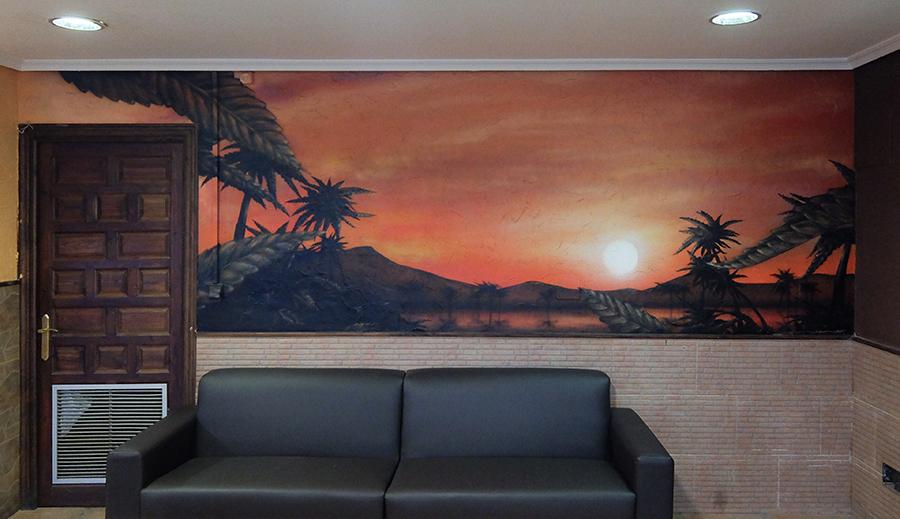 Pintor de murales especializado en trabajos artísticos de pintura, graffiti y decoración en Madrid