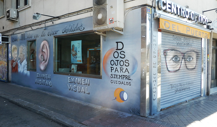 SoenBravo | Centro óptico | Pintor de murales especializado en trabajos artísticos de pintura, graffiti y decoración en Madrid